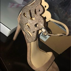 Jessica Simpson Light Microsuede Heels